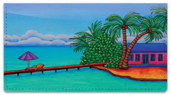 At the Beach 2 Checkbook Cover