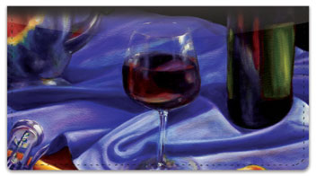 Wine Set Checkbook Cover