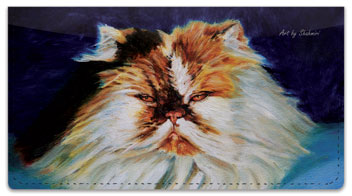 Shahmiri Cats Checkbook Cover