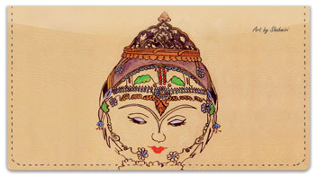 Shahmiri Tiles Checkbook Cover