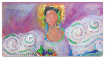 Painted Figure Checkbook Cover