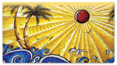 Tropical Artwork Checkbook Cover