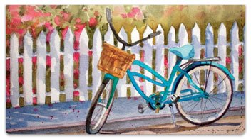 Bicycle Art Checkbook Cover
