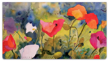 Kay Smith Poppy Checkbook Cover