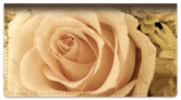 Beautiful Rose Checkbook Cover