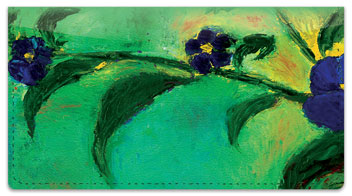 Floral Art Checkbook Cover