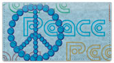 Peace Sign Checkbook Cover