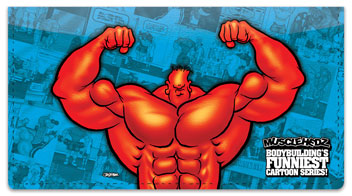 Bodybuilding Character Checkbook Cover