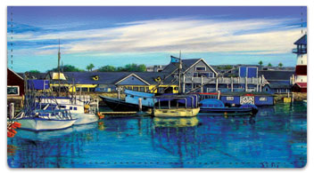 Harbors and Piers Checkbook Cover