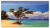 Tropical Shore Checkbook Cover