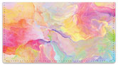 Floral Abstract Checkbook Cover