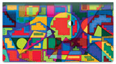 Bulone Abstract Checkbook Cover