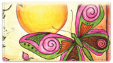 Whimsical Wings Checkbook Cover