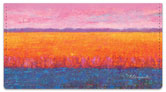 Colored Fields Checkbook Cover