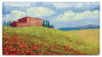 Tuscan Hills Checkbook Cover