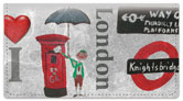 I Love London Checkbook Cover
