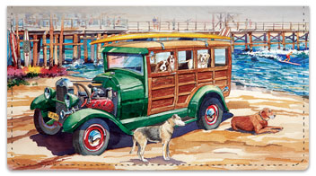 Doggies on Board Checkbook Cover