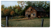 Summer Farm Checkbook Cover
