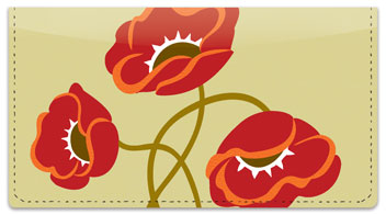 Poppy Dance Checkbook Cover