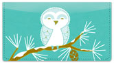Snow Owl Checkbook Cover