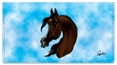 Arabian Horse Checkbook Cover