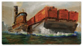 Tugboat Checkbook Cover