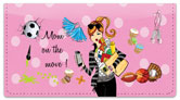Mom on the Move Checkbook Cover