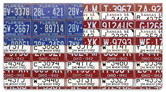 Americana License Plate Checkbook Cover