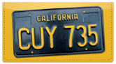 California License Plate Checkbook Cover