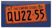 New York License Plate Checkbook Cover
