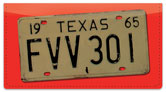 Texas License Plate Checkbook Cover