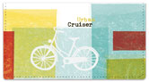 Bike Art Checkbook Cover