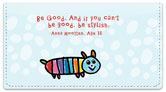 Kid Quotation Checkbook Cover