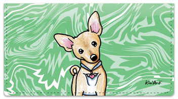 Chihuahua Series 1 Checkbook Cover