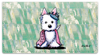 Westie  Princess Checkbook Cover