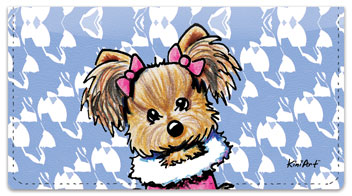 Yorkie Series 1 Checkbook Cover