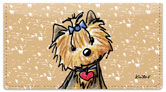Yorkie Series 2 Checkbook Cover