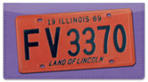 Illinois License Plate Checkbook Cover