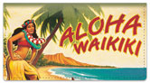 Hawaiian Art Checkbook Cover