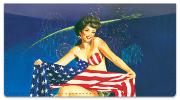 Pin Up Girl Checkbook Cover