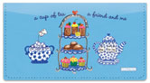 Carol Eldridge Tea Time Checkbook Cover