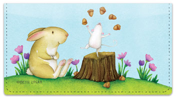 Mouse and Bunny Checkbook Cover