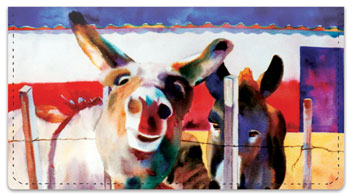 Kay Smith Donkey Checkbook Cover