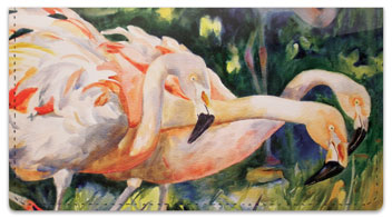 Kay Smith Flamingo Checkbook Cover