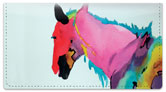 Kay Smith Horse Checkbook Cover