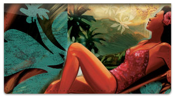 Tropical Girl Checkbook Cover