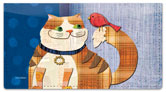 Fat Cat Checkbook Cover