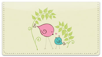 Bird Garden Checkbook Cover