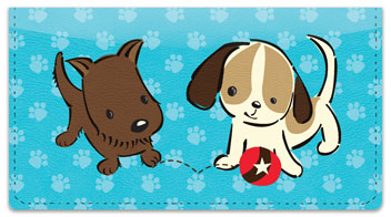 Naughty Puppy Checkbook Cover