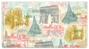 Paris Vacation Checkbook Cover